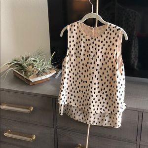 Kate Spade Nude spotted blouse